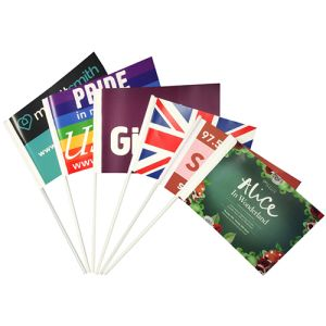 Eco Friendly Paper Hand Flags