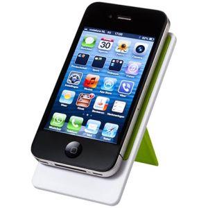 Branded phone stands for desktop advertising