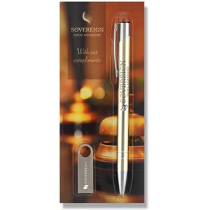 Promotional Electra Metal Ballpen and USB Sets for Business Gifts