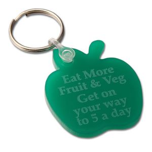 Any Shape Embossed Acrylic Keyrings in Green
