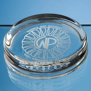Engraved Round Paperweights