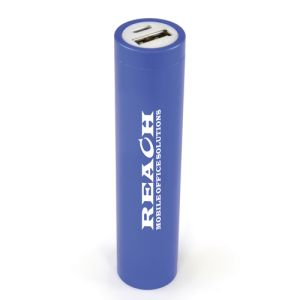 Available in 4 different colours, these promotional power banks can be printed or engraved with your logo.