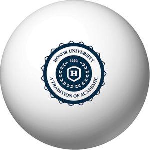 Branded stress balls for desktop advertising
