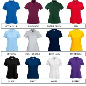 Corporate branded polo shirts for business gifts colours