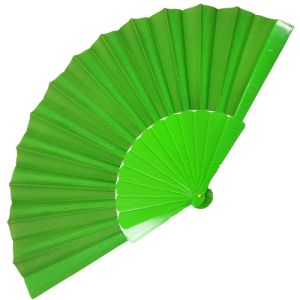 Fabric Handheld Fans in Green