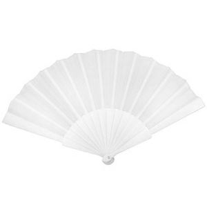 Fabric Handheld Fans in White