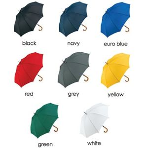 Personalised Fare Umbrellas for Event Marketing Colour list