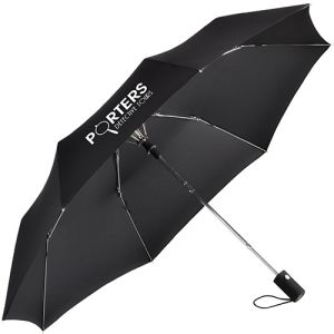 Printed Fare Mini Automatic Umbrellas with company logos