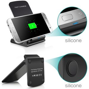 The stand design of these branded wireless chargers means they can be angled at convenient angles for your customers.