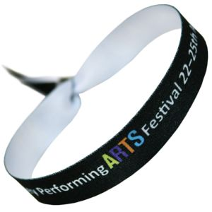 Promotional Festival Style Fabric Wristbands with logos