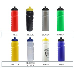 Corporate branded water bottles with company logos colours