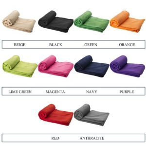 Branded blankets with pouches for corporate marketing colours