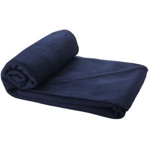 Fleece Blanket with Pouch in Blue