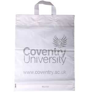 Promotional Flexi Loop Handle Polythene Carrier Bags for events