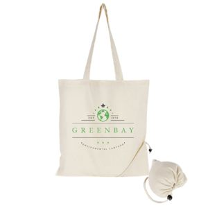 Promotional printed Foldable Cotton Shopper Bags for corporate events