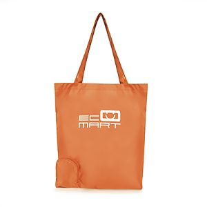 Foldable Polyester Shopper Bags in Amber