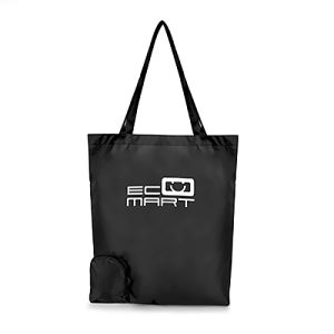 Foldable Polyester Shopper Bags in Black