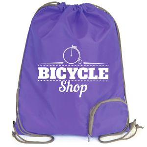 Promotional printed Folding Drawstring Bag with logo