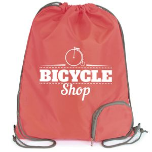 Custom merchandise Folding Polyester Drawstring Bags for giveaways