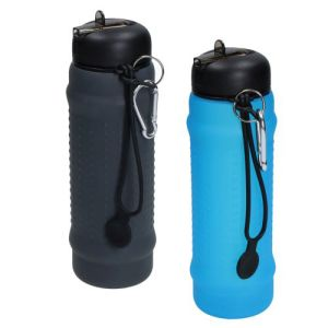 600ml Folding Silicone Sports Bottles