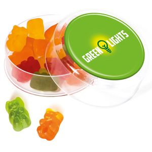 Custom branded Free From Gummy Bears Pots are promotional sweets