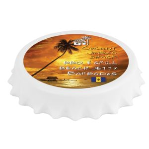 Fridge Magnet Bottle Openers in White