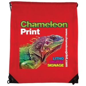 Full Colour Drawstring Bags in Red