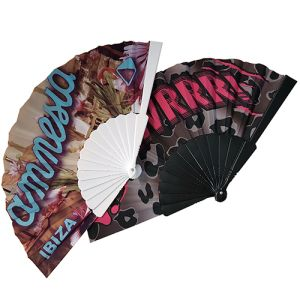 Full Colour Fabric Folding Fans