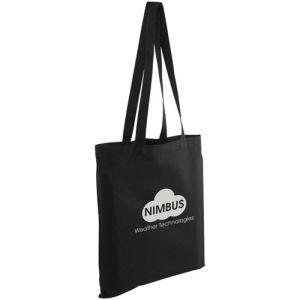 Full Colour Kingsbridge Cotton Tote Bags in Black