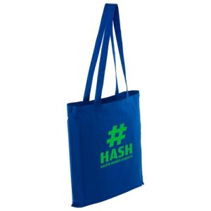 Full Colour Kingsbridge Cotton Tote Bags in Blue