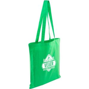 Full Colour Kingsbridge Cotton Tote Bags in Green