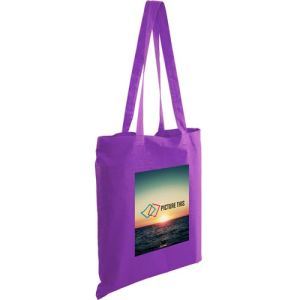 Full Colour Kingsbridge Cotton Tote Bags in Purple