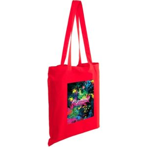 Full Colour Kingsbridge Cotton Tote Bags in Red
