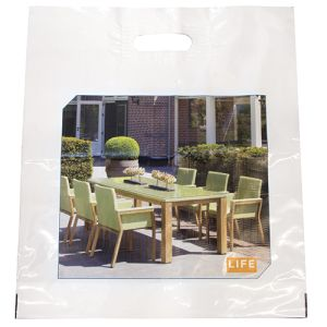 These promotional Full Colour Polythene Carrier Bags are ideal for events.