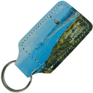 Full Colour Recycled Leather Keyrings
