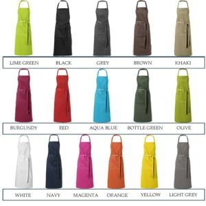 Promotional aprons for events colours
