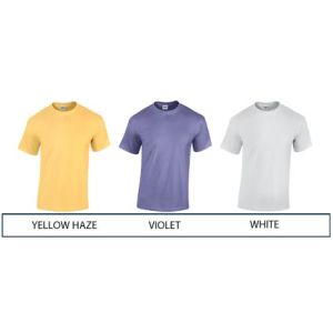 Promotional tee shirts for printing with company designs