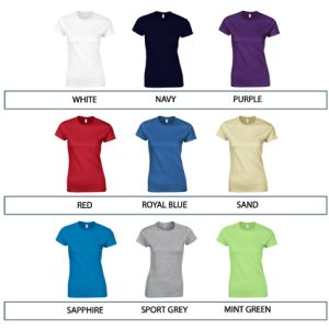 Custom branded t-shirts for events colours