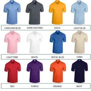 Custom printed polo shirts for giveaways colours