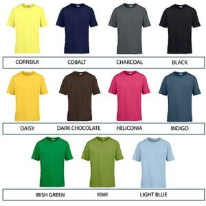 Custom branded t shirts for marketing ideas colours