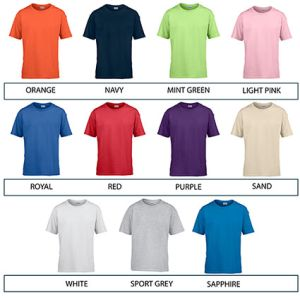Corporate branded t shirts for schools colour