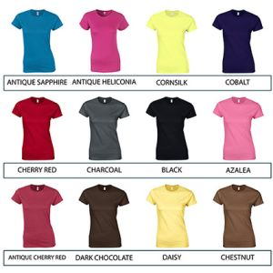 Branded t shirts for shop merchandise colours