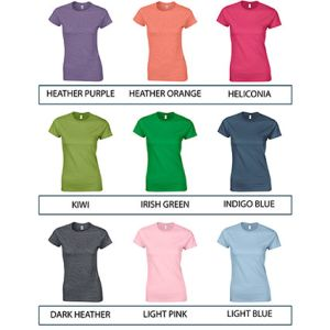 Corporate printed t-shirts for marketing colours