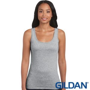Gildan Ladies Soft Style Vest Tops