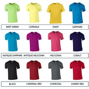 Corporate branded t shirts for merchandise colours