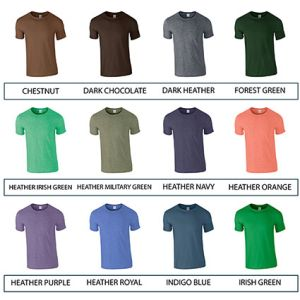 Custom printed t shirts for freshers colours
