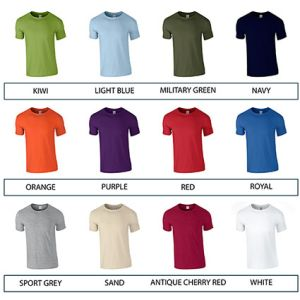 Promotional t-shirts for giveaways colours