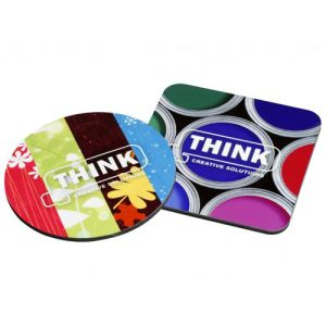 Promotional High Gloss Hardwood Coasters for office giveaways