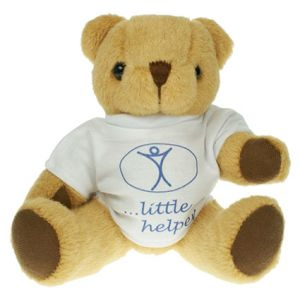 Promotional 20cm Honey Jointed T Shirt Bear with Printed Shirts