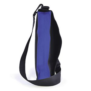 It can be worn over the shoulder or held by the carry handle
